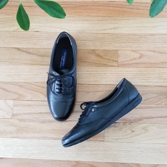 879d4c1346 Easy Spirit Shoes | New Motion Leather Oxfords Black | Poshmark